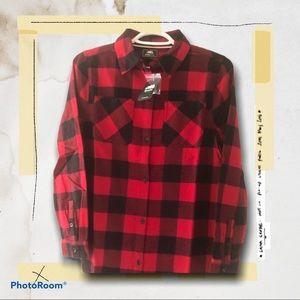 🆕(NWT) ROOTS KIDS Flanel Plaid Button Down Shirt
